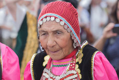 Old mongolian woman portrait Stock Photos