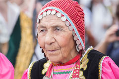Old mongolian woman portrait Royalty Free Stock Images
