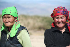 Old mongolian women Stock Image