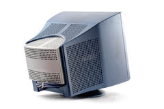 Old monitor. Royalty Free Stock Image