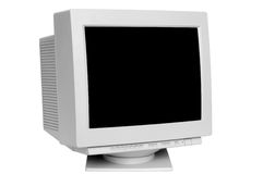 Old monitor Royalty Free Stock Images