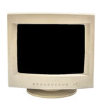 Old monitor isolate Stock Photos