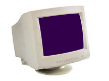 Old monitor isolate Stock Images