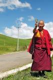 Old monk in Tibet Stock Image