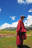 Old monk in Tibet Royalty Free Stock Image