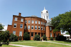 Old Monroe County Courthouse. The Old Monroe County Courthouse in Monroeville, Alabama. The courthouse in Harper Lee's book To Kill a Mockingbird is based on Royalty Free Stock Photo