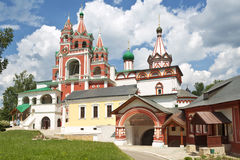 Old monstery in a Russian town Zvenigorod. Royalty Free Stock Photo