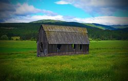 Old Montana Barn. This old barn was in norther Montana it no longer exists, a wield fire burned  it down the summer of 2017 Royalty Free Stock Photo