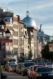Old Montreal. De la Commune street in Old Montreal,Quebec,Canada Royalty Free Stock Image