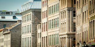 Old Montreal buildings Royalty Free Stock Photos