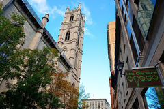 Old Montreal. MONTREAL, CANADA - SEP 8: City street view on September 8, 2012 in Montreal, Canada. It is the largest city in Quebec, the second-largest in Canada stock images