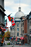Old Montreal. MONTREAL, CANADA - SEP 8: City street view on September 8, 2012 in Montreal, Canada. It is the largest city in Quebec, the second-largest in Canada stock image