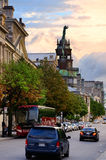 Old Montreal. MONTREAL, CANADA - SEP 8: City street view on September 8, 2012 in Montreal, Canada. It is the largest city in Quebec, the second-largest in Canada stock photography