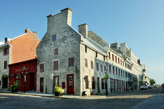 Old Montreal. Cobblestoned St-Paul street in Old Montreal,Quebec Royalty Free Stock Photos