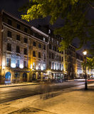 Old Montreal at Night Royalty Free Stock Photos