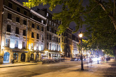 Old Montreal at Night Royalty Free Stock Image