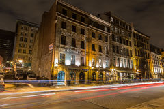 Old Montreal at Night Stock Photography