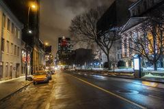Old Montreal night scene Royalty Free Stock Photography