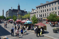 Old Montreal. Place Jacques-cartier in Old Montreal Royalty Free Stock Image