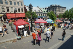 Old Montreal. Place Jacques-cartier in Old Montreal,Quebec,Canada Royalty Free Stock Photo