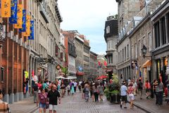 OLD MONTREAL RUE ST. PAUL Stock Photography