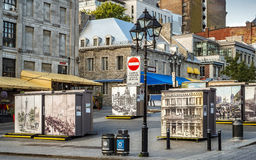 Old Montreal scene stock image