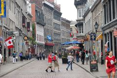 Old Montreal. St Paul street in Old Montreal,Quebec,Canada Royalty Free Stock Photos