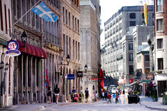 Old Montreal. St-Paul street in Old Montreal,Quebec,Canada Royalty Free Stock Image