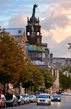 Old Montreal. Street view with historical buildings royalty free stock photography