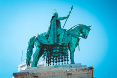 Old monument  first king of Hungary, Budapest. Monument to the first king of Hungary Istvan Great Stock Photography
