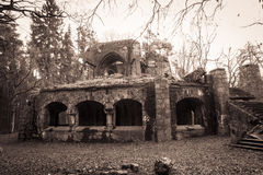 Old ruins of german restaurant (WWII) Royalty Free Stock Image