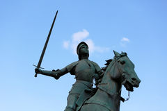 Old Monument of Jeanne d Arc (Joan of Arc) Stock Image