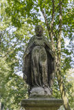 Old monument. Mother of God on the Tomb in Rakowicki cemetary in Krakow Stock Image