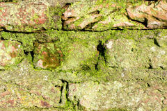 Old monumental wall. Detail of an old monumental wall in Wassenaar, The Netherlands Stock Photo