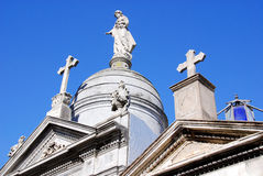 Old monuments in the Recoleta Cemetery Stock Photography