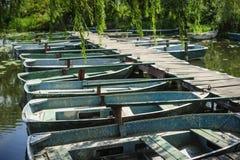 Old mooring boats Stock Photo