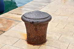Old mooring bollard Royalty Free Stock Image