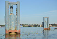 Old mooring buoys Stock Images