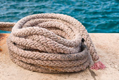 Old mooring rope Royalty Free Stock Photo
