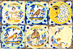 Old moorish ceramic tiles. (circa 17th century), Andalusia, Spain Stock Photo