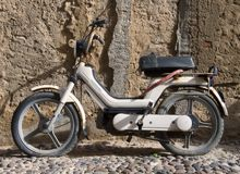 Old Moped. Rusty Old Moped Sardinia Italy Stock Image