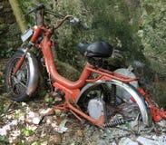 Old moped inoperative abandoned Royalty Free Stock Photography