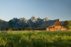 Old Mormon barn in the Tetons Stock Image
