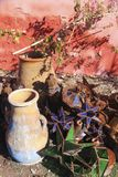 Old Moroccan Broken Vases royalty free stock images