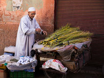 Old Moroccan man selling herbs Royalty Free Stock Image