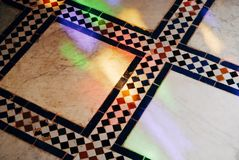 Old moroccan mosaic floor Stock Image