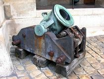 Old mortar. Royalty Free Stock Photo