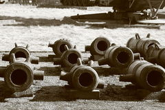 Old mortars royalty free stock image