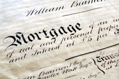 Old Mortgage Deed royalty free stock image