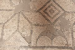Old Mosaic, Background from Greek Mosaic. Mosaic from the Museum. On the Island of Sicily, Italy. For Your Design, Templates, Postcards, Decoration Stock Image